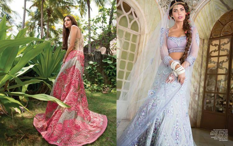 Esha Gupta Dazzles With Her Style In Harper's Bazaar Bride June 2014 Issue