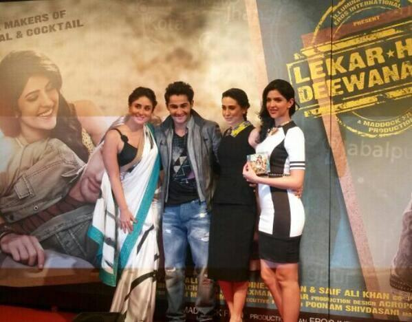 Kareena Kapoor Khan,Karisma Kapoor And Others Are Clicked During The Music Launch Of Lekar Hum Deewana Dil Movie