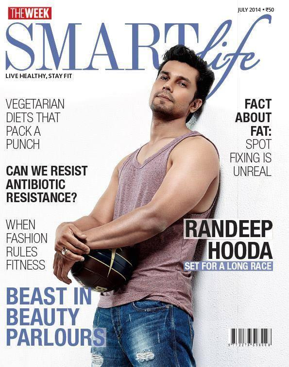 Randeep Hooda On The Cover Page Of Smart Life Magazine July Issue 2014