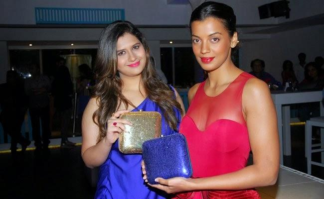 Manali Jagtap And Mugdha Godse Posed With Bridal Handbags During The Launch Of Manali Jagtaps Bag Collection Clutch Closet