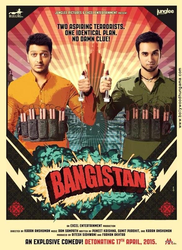 The First Look Poster Of Riteish Deshmukh And Pulkit Samrat From Bangistan