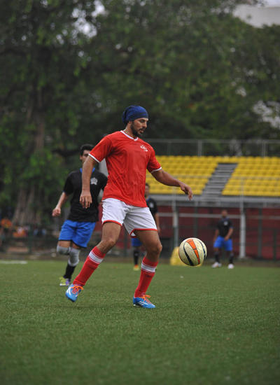 Dino Morea Playing Football At Celebrity Charity Football Match By Aamir Khan Daughter Ira Khan