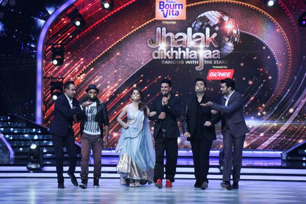 Ranvir,Remo,Madhuri,Akshay,Karan And Manish Cooled Funny Look On Jhalak Dikhhla Jaa 7