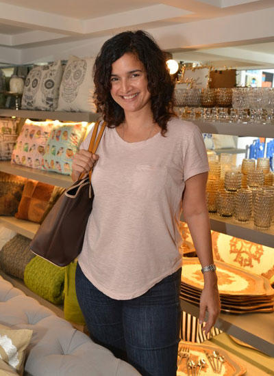 Sushama Reddy Smiling Pose At The Launch Of Sanvari And Anjori Alagh Houseproud Store