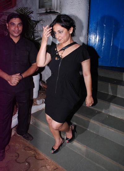 Divya Dutta In Black Short Dress At Wrapup Bash Of Badlapur Movie