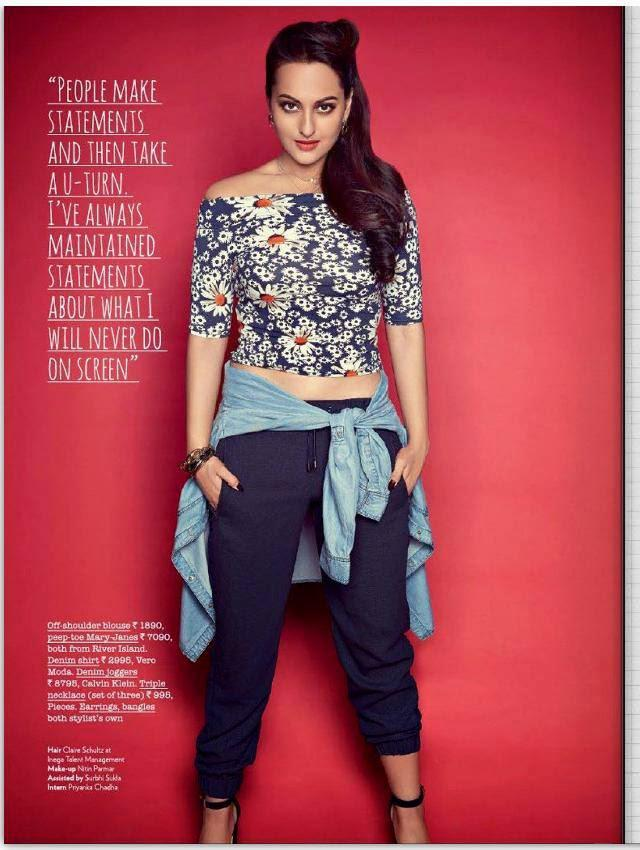 Sonakshi Sinha Covers The Juice In River Island