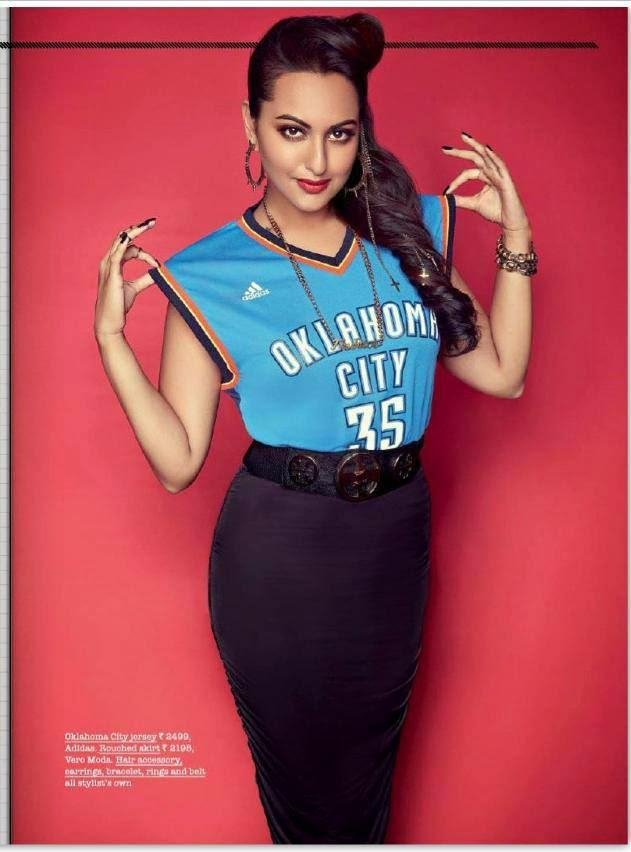 Sonakshi Sinha Stylish Look On The Juice Magazine Of Jabong August Issue