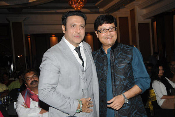 Govinda And Sachin Pilgaonkar Posed For Camera At IMFAA 2014 In Mumbai