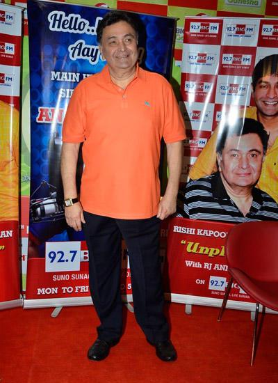 Actor Rishi Kapoor Celebrates His Birthday At 92.7 Big FM Radio Station
