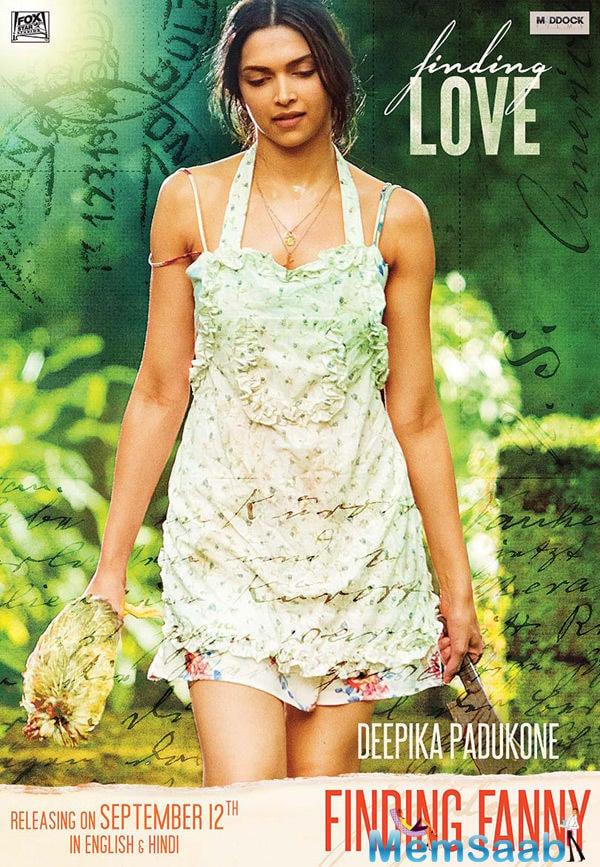Deepika Padukon Hot Look In Short Dress In Finding Fanny Movie Wallpaper