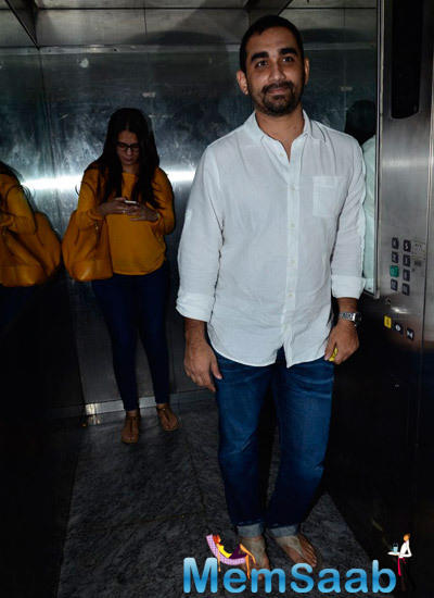 Kunal Deshmukh Spotted At The Finding Fanny Screening Hosted By Homi Adajania
