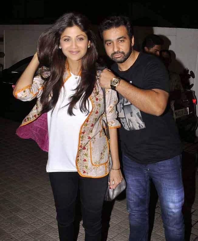 Shilpa Shetty With Hubby Raj Kundra Attend The Screening Of Finding Fanny Hosted By Homi Adjania