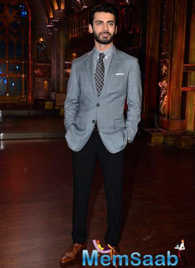 Fawad Khan Dashing Casual Look During The Promotion Of Khoobsurat On The Sets Of Zee Cine Star Ki Khoj