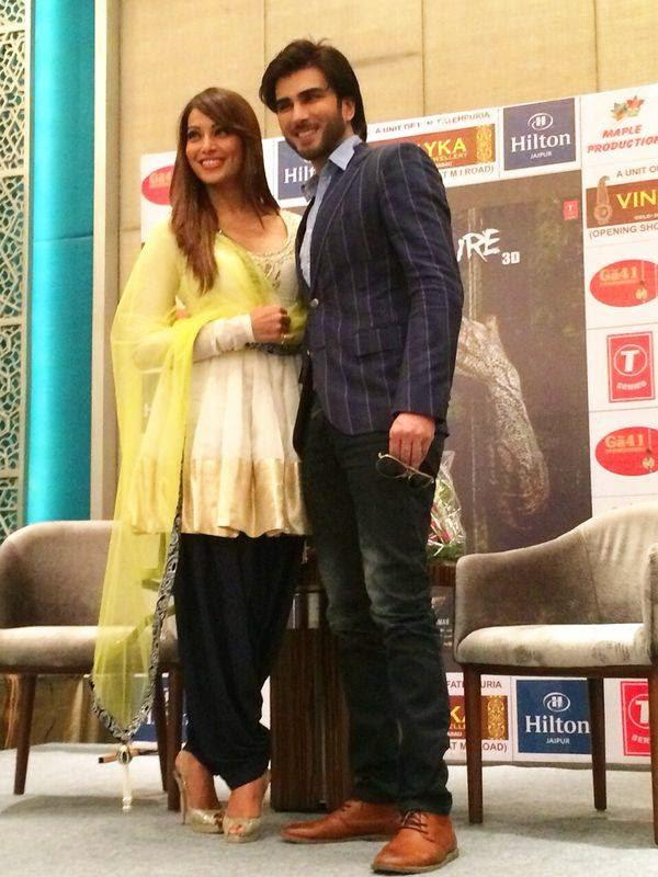 Bipasha Basu And Imran Abbas Naqvi Posed At The Promotion Of Creature 3D In Jaipur City