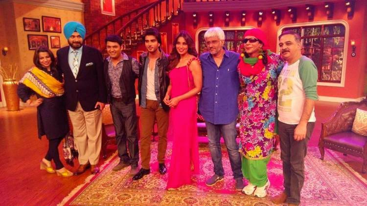 Navjot Singh,Kapil,Imran Abbas,Bipasha,Vikram And Sunil Posed On The Sets Of CNWK
