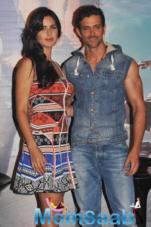 Hrithik Roshan And Katrina Kaif At Bang Bang Song Launch