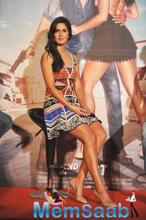 Katrina Kaif  Interacts With Media During Bang Bang's Title Track Launch Event