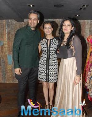 Dia Mirza Launches Designers Shyamal And Bhumikas Signature Studio Store