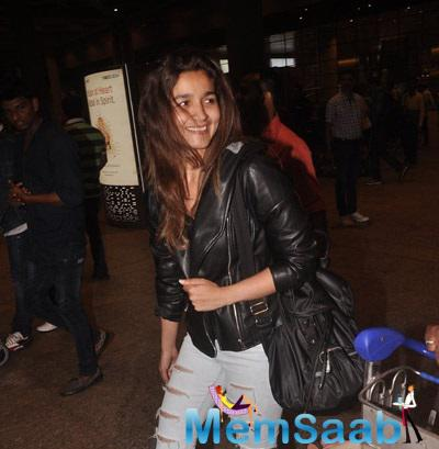 Alia Bhatt Back From London After A Round Of Shooting For Her Movie Shandaar
