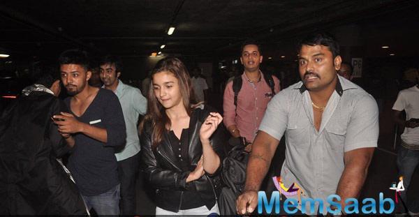 Alia Bhatt Spotted At Mumbai International Airport From London Shoot