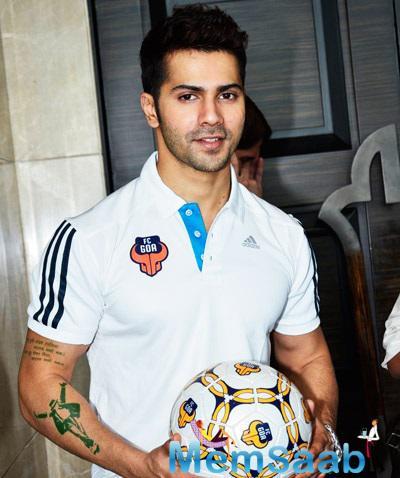 Varun Dhawan Unveils FC Goa Official Jersey