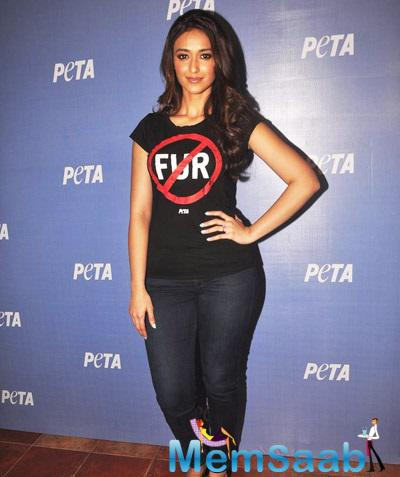 Ileana D'Cruz Clicked During The Launch Of New Campaign Peta Advertisement