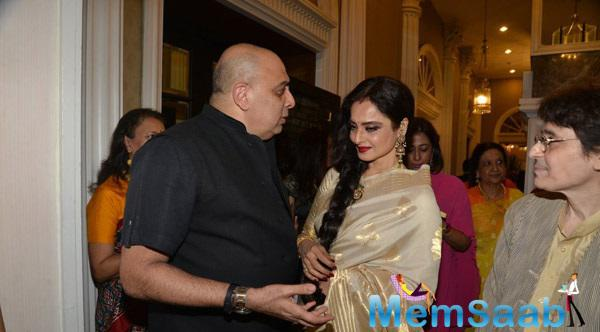 Veteran Actress Rekha Spotted At Amazing Yard Exhibition Opening Ceremony