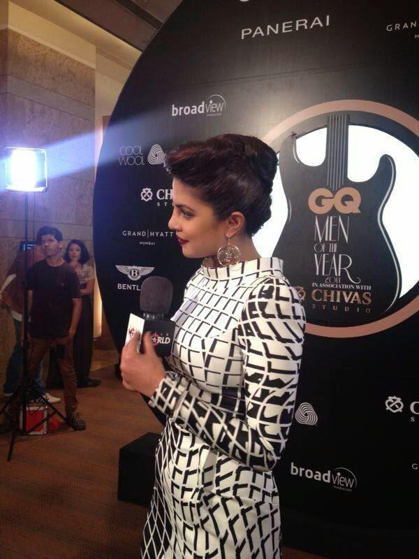 Priyanka Interact With Media During GQ Men Of The Year Awards 2014 Event