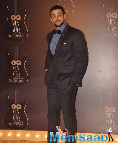 Arunoday Singh Strikes A Pose At GQ Men Of The Year Awards 2014