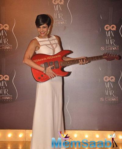 Mandira Bedi Smiling Cool Look At GQ Men Of The Year Awards 2014