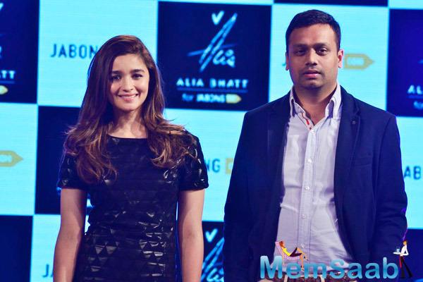 Actress Alia Bhatt Unveiled The Alia Bhatt For Jabong Collection In Mumbai