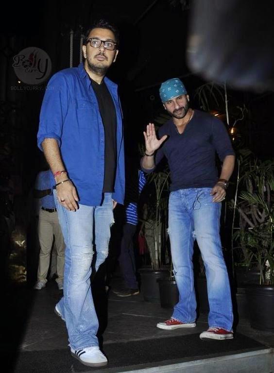 Dinesh Vijan And Saif Clicked At Outside Of Nido Restaurant