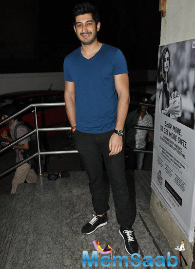 Mohit Marwah Smiling Look During The Screening Of Haider At Juhu