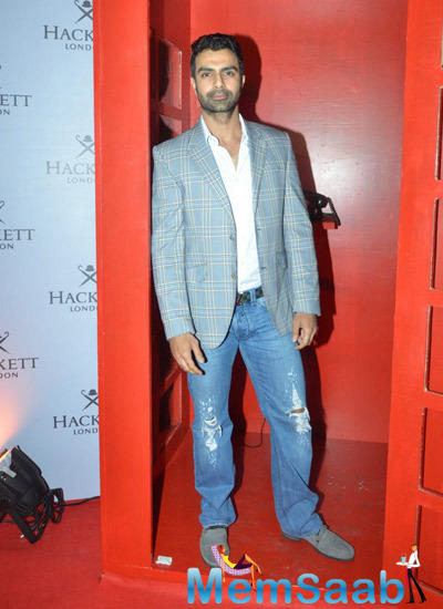 Ashmit Patel Dappers Look In Red Carpet At The Hackett London First Store Launch Party