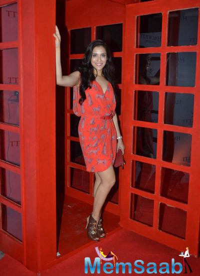 Rashmi Nigam Looked Ravishing In A Pretty Red Dress At The Hackett London First Store Launch Party