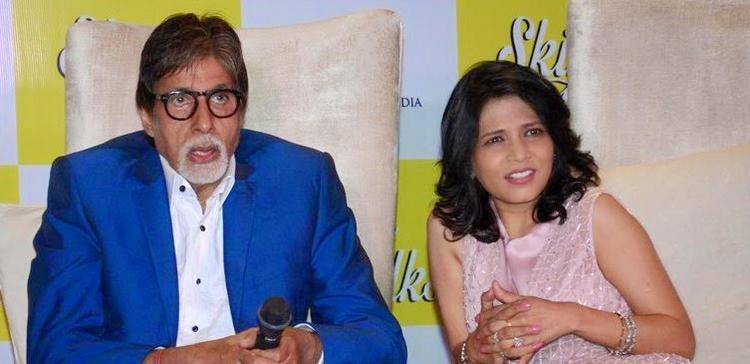 Amitabh Bachchan And Dr Jaishree Sharad At Press Meet During The Launch Of  Dr Jaishree Sharad Book