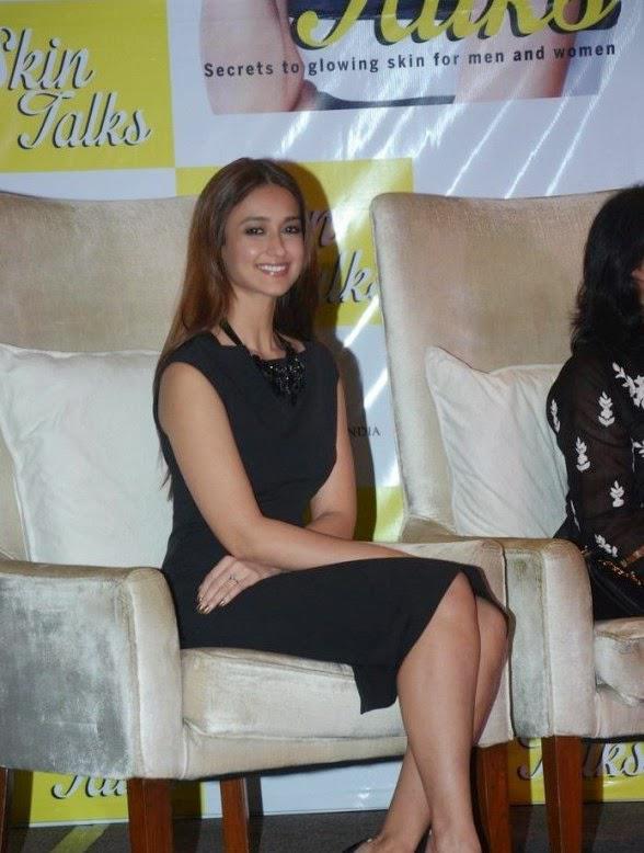 Smiling Ileana D'Cruz Sits Pretty In A Black Midi Dress At Dr Jaishree Sharad Book Launch Event