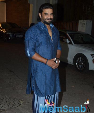 R. Madhavan Is All Smiles For Camera At Diwali Celebrations Throws By Shilpa Shetty
