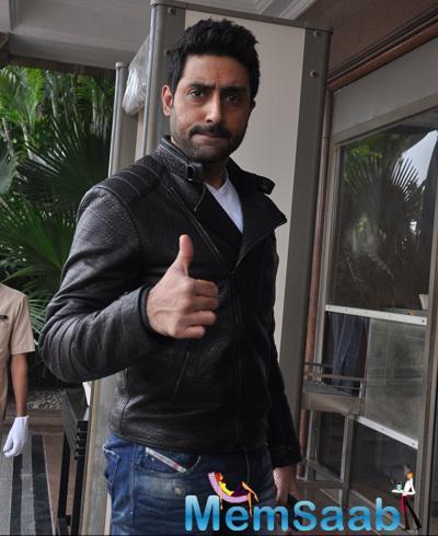 Abhishek Bachchan Strikes A Pose At The HNY Mobile Game Success Celebration
