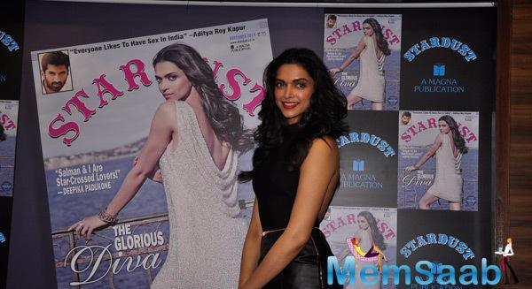 Deepika Padukone Looked Elegant At Stardust Magazine Cover Launch November Edition