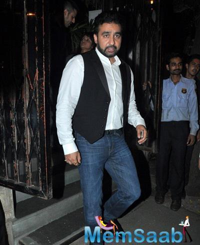 Raj Kundra Snapped At Nido Restaurant During To Attend Tabu's Birthday Bash