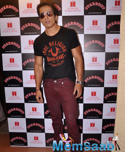 Bollywood Hunk Sonu Sood Dashing Look During The Launch Of Rising Star Magazine Cover