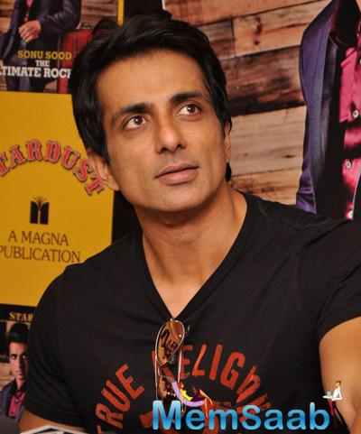 Sonu Sood Stunning Face Look At The Launch Of Rising Star Magazine Cover