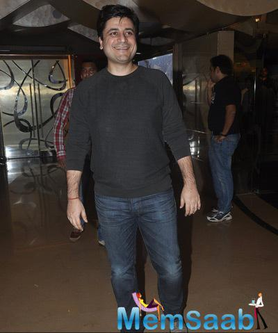 Goldie Behl Flashes Smile During The Screening Of Shaukeens Movie