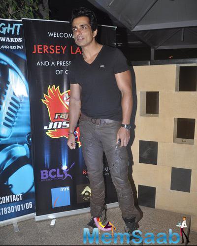 Sonu Sood Casual Look During Raj Joshilay Bash