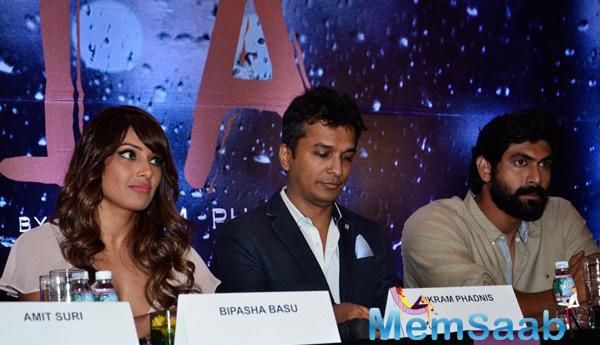 Bipasha Basu,Vikram Phadnis And Rana Daggubati During Announcement Press Meet Of Vikram Phadnis Debut Film NIA