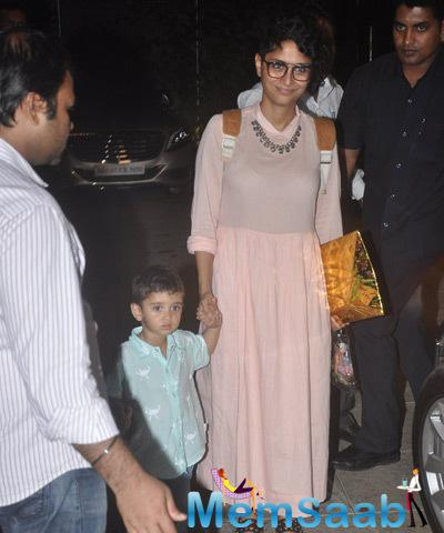 Kiran Rao Arrived With Son Azad During Aaradhya Bachchan 3rd Birthday Party