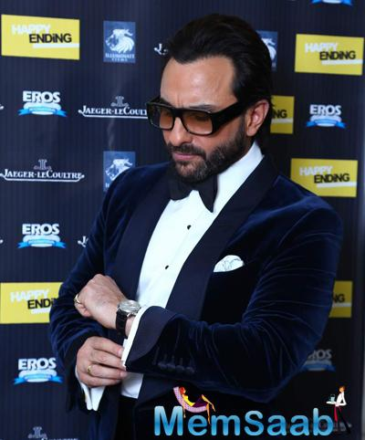 Saif Ali Khan Dashing Look During Happy Ending Movie Premiere