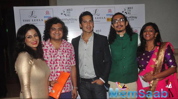 Shail Mane,Dino Morea And Others Posed During The Launch Of Shail Mane Why A Stray Calendar