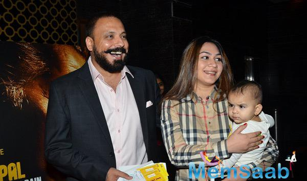 Bunty Walia With Family At Bhopal A Prayer For Rain Premiere
